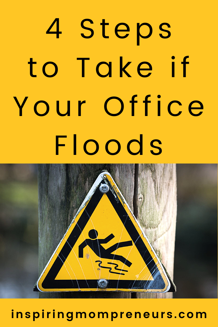 A pipe could burst, a storm could destroy your roof or a river could burst it's banks and flood your office. Here are four crucial steps to take if your office floods. #stepstotakeifyourofficefloods #floodrestoration